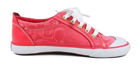 pink coach sneakers coach barrett pink fashion lace up sneakers 7 5 new ebay