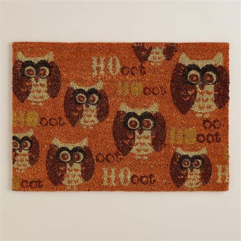Owl Doormat owl harvest doormat world market