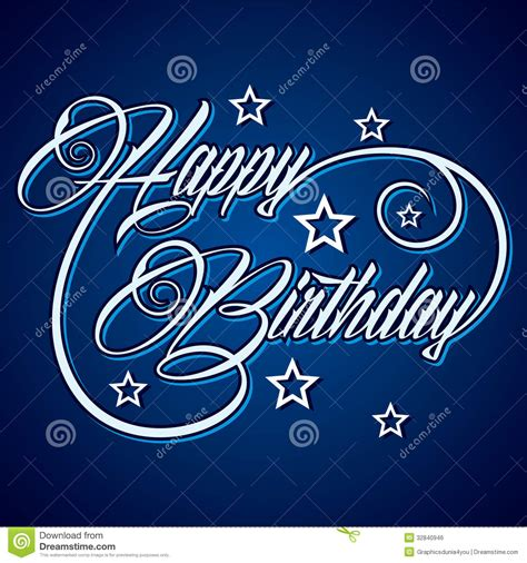 Creative Ideas To Wish Happy Birthday Creative Happy Birthday Greeting Stock Vector Image