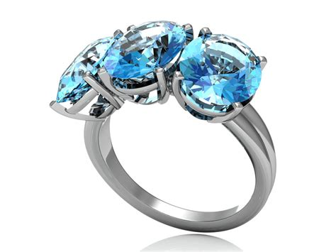 silver ring with topaz adamas store