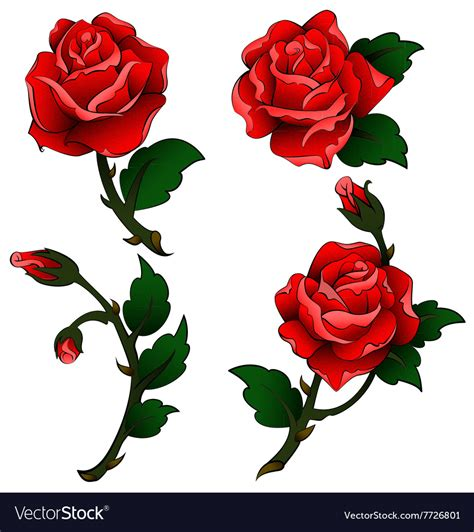 oldschool rose tattoo oldschool roses royalty free vector image