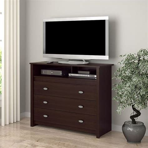 bedroom media dresser 3 drawer dresser chest tv stand media storage modern bedroom furniture espresso ebay