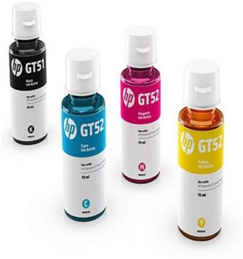 Dijamin Hp Gt52 Cyan Magenta Yellow Original Ink Bottle brand new hp gt 51 gt 52 multi color ink brand new