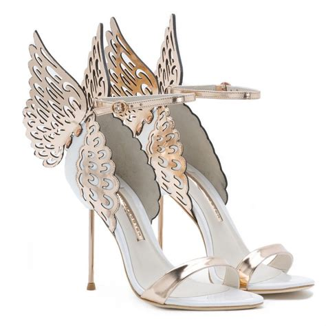 evangeline 163 395 00 white leather wing sandal with