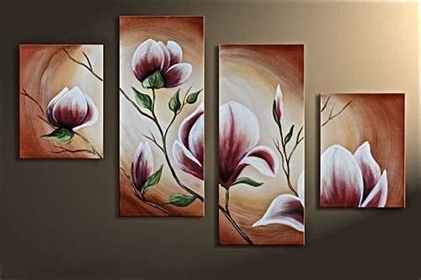 4 canvas photography floral decorative large pictures brown painting wall
