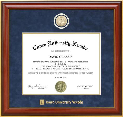 touro university worldwide touro university designer diploma frame wordyisms