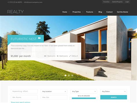 2017 latest real estate designs 30 best real estate wordpress themes 2017 athemes