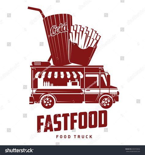 design food truck logo fast food foodtruck logo vector illustration stock vector
