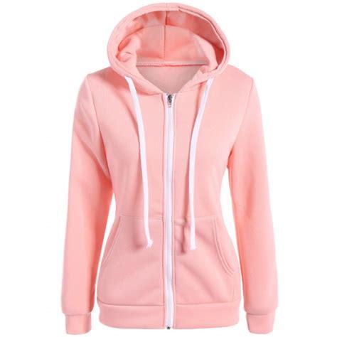 Drawstring Hoodie Pink wholesale slimming zip up drawstring hoodie s pink