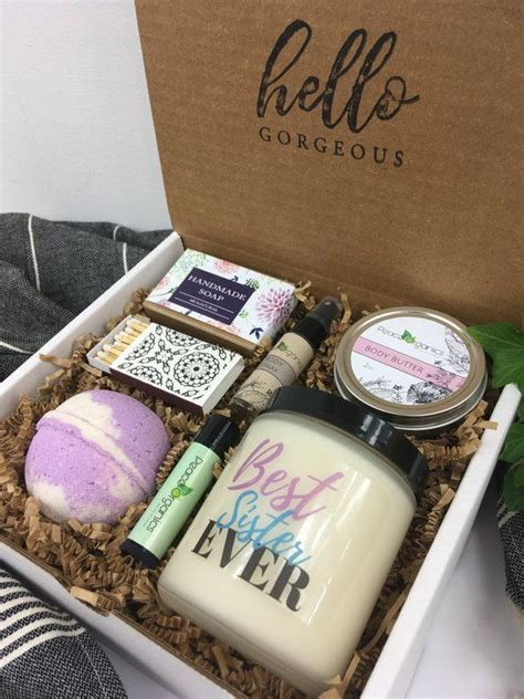birthday gift  sister stepsister present gift ideas natural spa box   spa