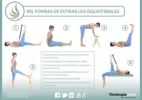 cadenas musculares rodilla estiramientos de isquiotibiales estira correctamente