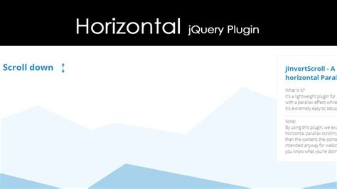 horizontal website tutorial jquery horizontal jquery plugin with parallax effect