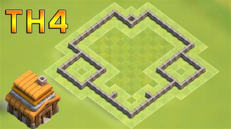 layout coc town hall 4 clash of clans coc town hall 4 defense th4 best