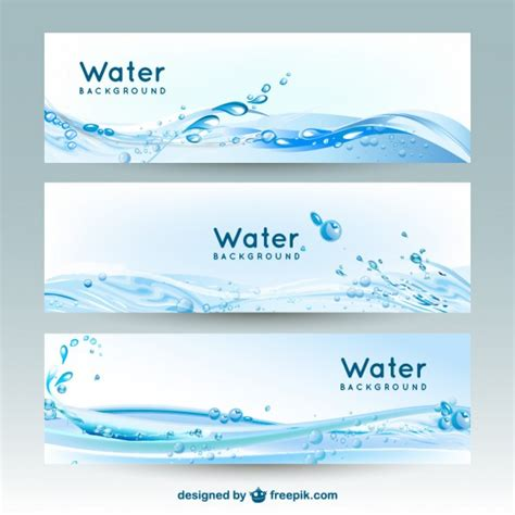 water layout vector water banner backgrounds vector free download
