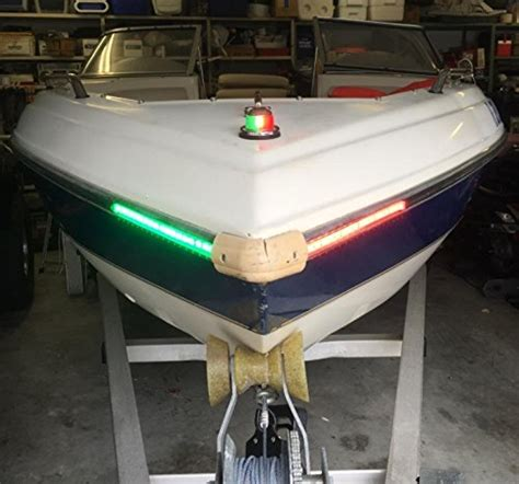 boat lights bow boat bow led lighting red green kit import it all