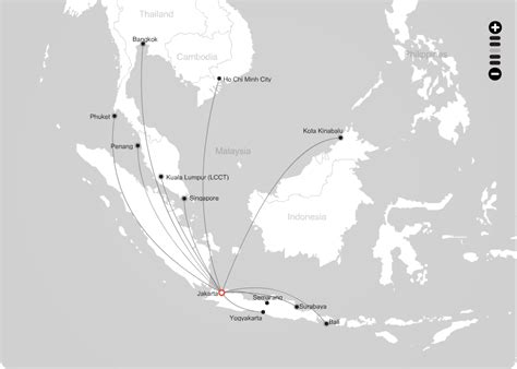 airasia rute indonesia airasia route map from jakarta