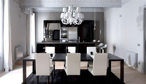lime green esszimmer strict black and white apartment interior design loft en