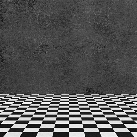 Checkered Floor by Gray Wall And Checkered Floor Photo Free