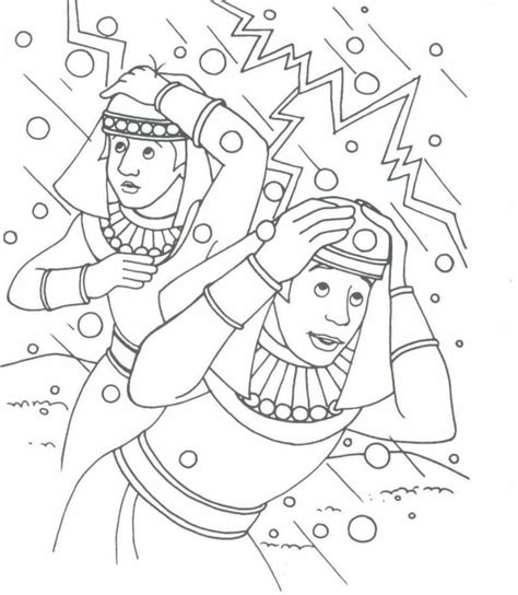 Moses Plagues Coloring Pages Coloring Home Hail Coloring Page