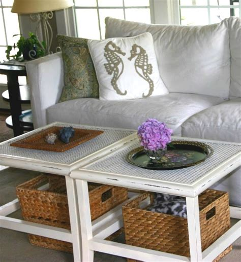 Inspiring Designs Of Coffee Table With Baskets Homesfeed White Coffee Table With Baskets