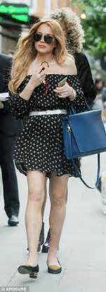Lindsays A Lot Of In Japan by Lindsay Lohan Wows In A Tiny Black Dress At I D S Moschino