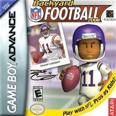 backyard football gba rom backyard football 2006 gba usa rom gt gameboy advance