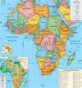 Africa Map Capitals by Map Of Africa With Capitals