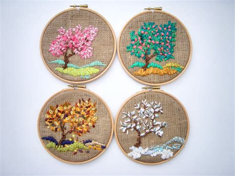 handmade home decor hoop art tapestry embroidery hoop fiber art by