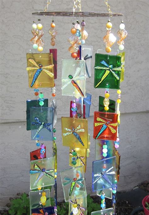 Handmade Glass Wind Chimes - 336 best images about stained glass wind chimes on