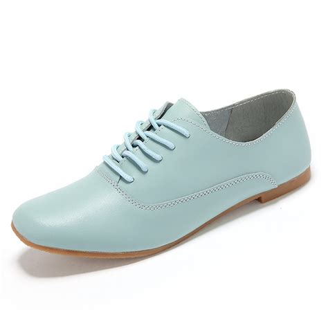 flat shoes 2015 2015 genuine leather shoes lace up casual flat shoes