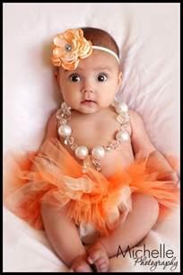 Infant Photo Props Tutu Newborn Infant Baby Tutu With Matching Flower Headband Peaches N Cream Photo Prop