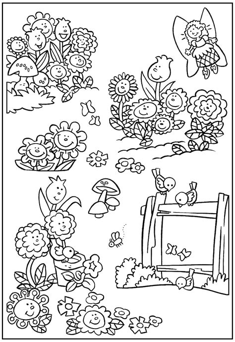 Galerry coloring pages house with flowers