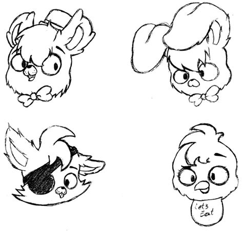 Fnaf 1 Sketches by Fnaf Sketches By Miyukiohayashi On Deviantart