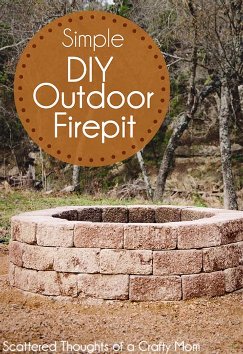 how to make an outdoor firepit 31 diy outdoor fireplace and firepit ideas diy