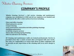 klintin cleaning services presentation