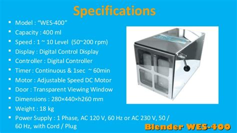 Blender Laboratorium daihan blender wes 400