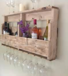 Skid Patio Furniture Diy Pallet Wine Rack Shelf Wooden Pallet Furniture