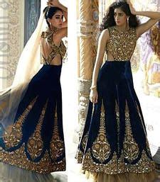 hochzeitskleid chagner buy dark blue velvet handworked bridal lehenga with blouse