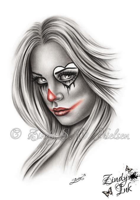 tattoo girl drawing clown girl drawing google search inkme pinterest