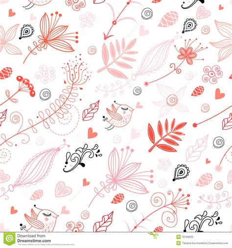 seamless pattern love seamless floral pattern with birds in love royalty free