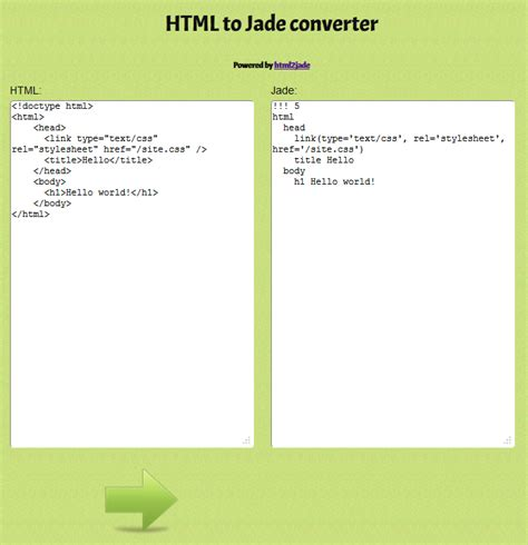 html to jade converter download