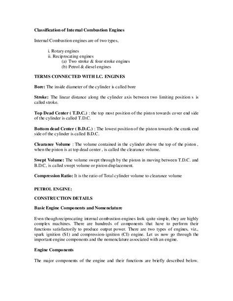 Download VTU eNotes On Automotive Engines For Automobile
