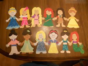Paper Doll Craft - disney princess paper doll craft crafts
