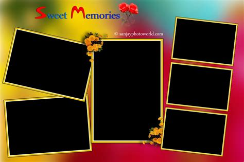 Sanjay Photo World 8x12 Collarge Wedding Templates Vol 01 8x12 Wedding Album Templates