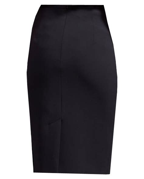 black pencil skirt with decorative button custom handmade