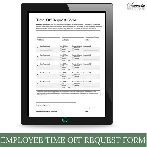 time request form