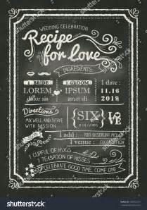 chalkboard recipe card template recipe chalkboard wedding invitation card background stock