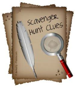 scavenger hunt clue cards template scavenger hunt clues how to write scavenger hunts
