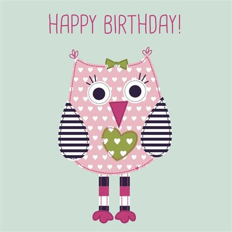 imagenes happy birthday girl baby girl happy birthday card featuring ade owl
