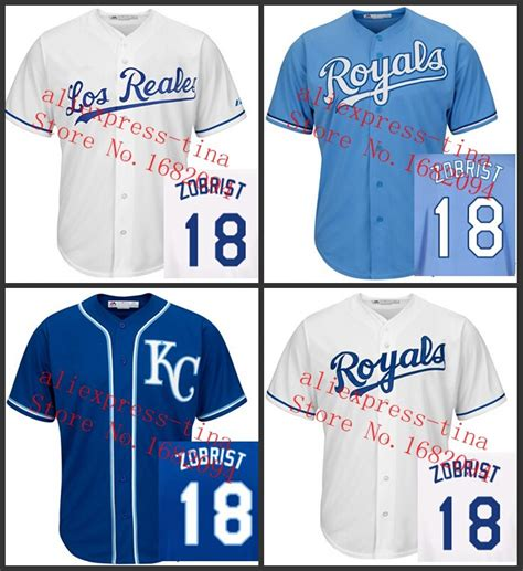 aliexpress jerseys baseball new arrival kids kansas city royals jersey 18 ben zobrist